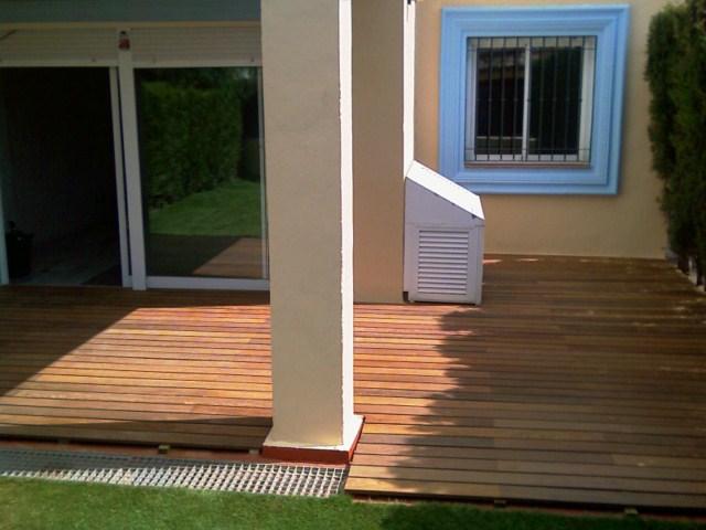 Cubrir terraza con madera ipe for Cubrir suelo terraza